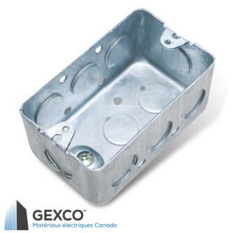 Boîte utilitaire rectangulaire 1110 pour interrupteurs ou prises électriques.