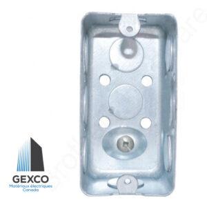 Boîte utilitaire rectangulaire 2020 pour interrupteurs ou prises électriques.
