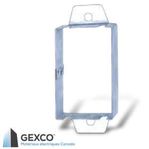 Anneau d'extension BEX de boîte de dispositif en acier galvanisé.