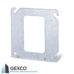 """Anneau de dispositif 52C0 carré de 4"""" simple en acier galvanisé."""