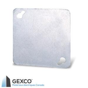 """Couvercle carré 52C1 plat de 4"""" en acier galvanisé."""