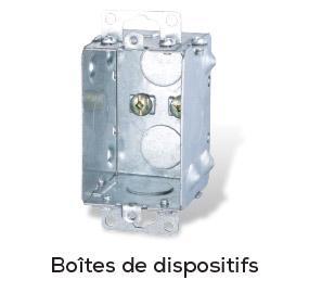 Boîtes de dispositifs en acier galvanisé