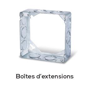 """Les boîtes d'extensions carrée ou octogonale de 4"""" en acier GEXCO sont fabriquées dans les règles les plus strictes de l'industrie."""