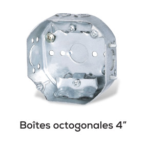 """Boîtes octogonales 4"""""""